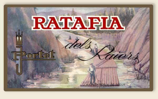 Ratafia etiqueta antiga
